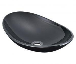 Lavoar Nera, 47 X 30,5 X 13 Cm, 12 Mm, Sticla Securizata, Negru
