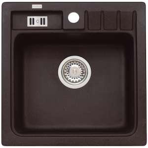 Chiuveta Algranit Alveus Niagara 20 A91, 465x465mm, adancime cuva 180mm, material compozit, Negru